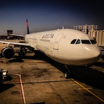 Delta Air Lines Airbus A330-200 after we landed in Atlanta