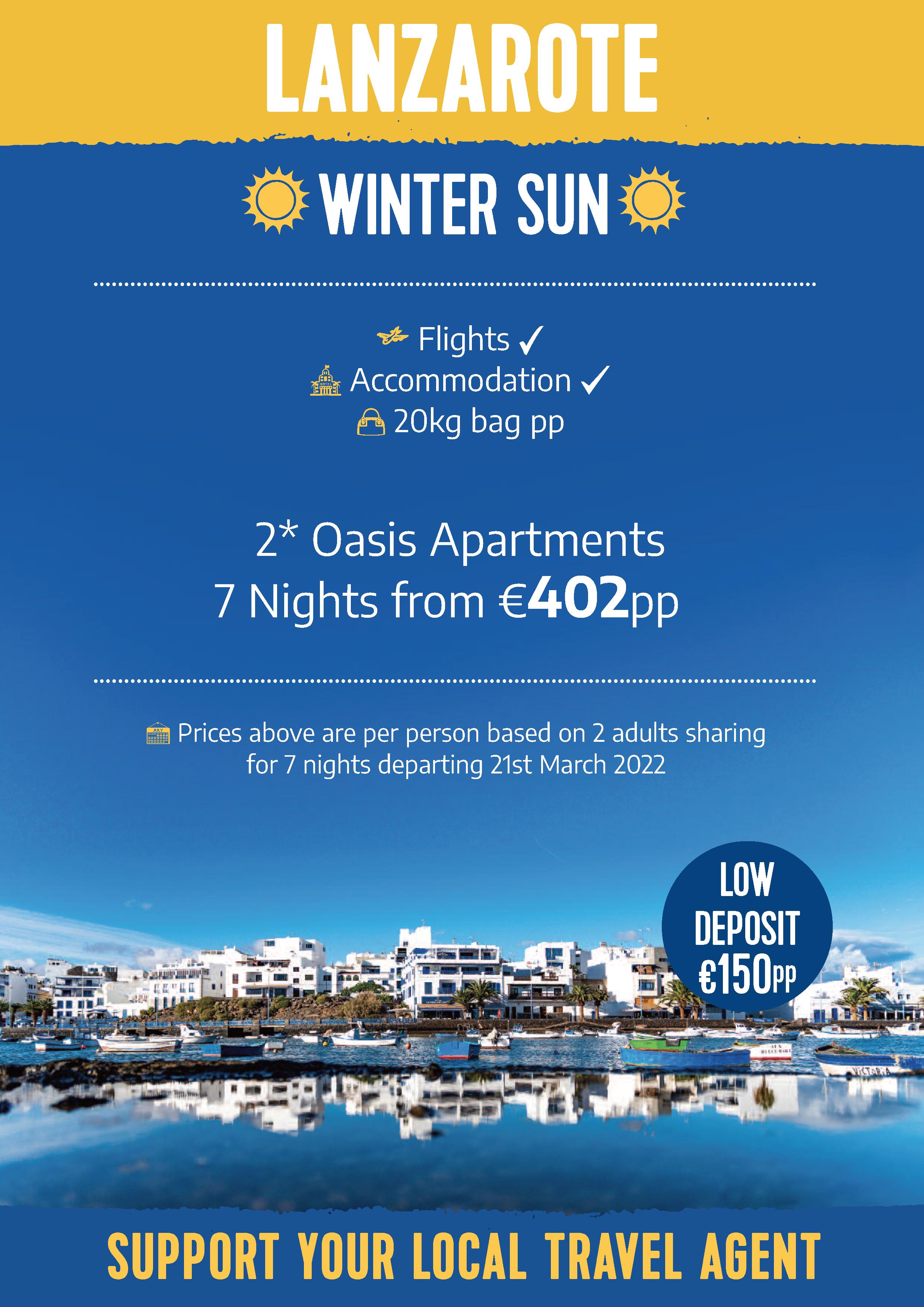 Lanzarote Winter Sun Offer